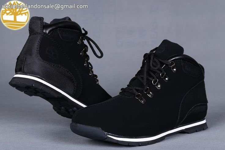 Custom Timberland Euro Sprint Black-White Mens Boots For Sale $95.99