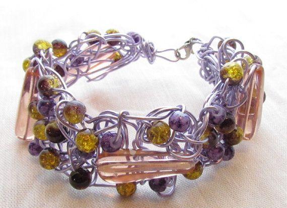Bracelet de tige entrelacée avec perlages. sur Etsy, $20.00 CAD