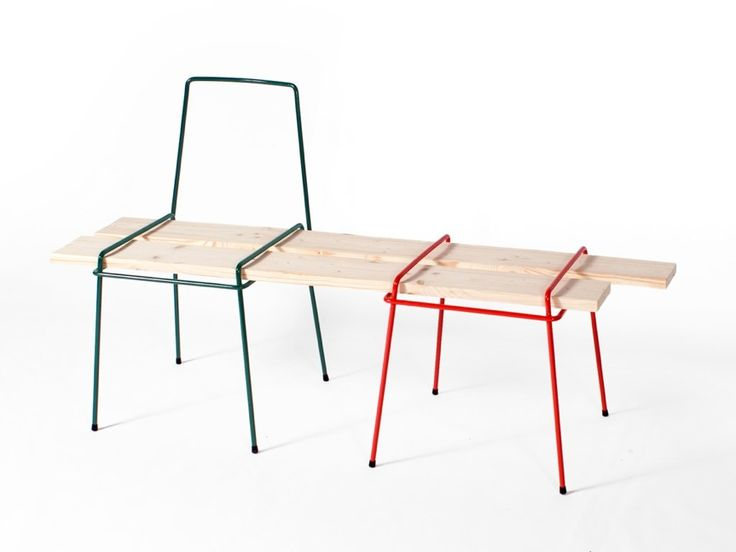 Wire frames that you turn into furniture with your own wood: drahtbank5