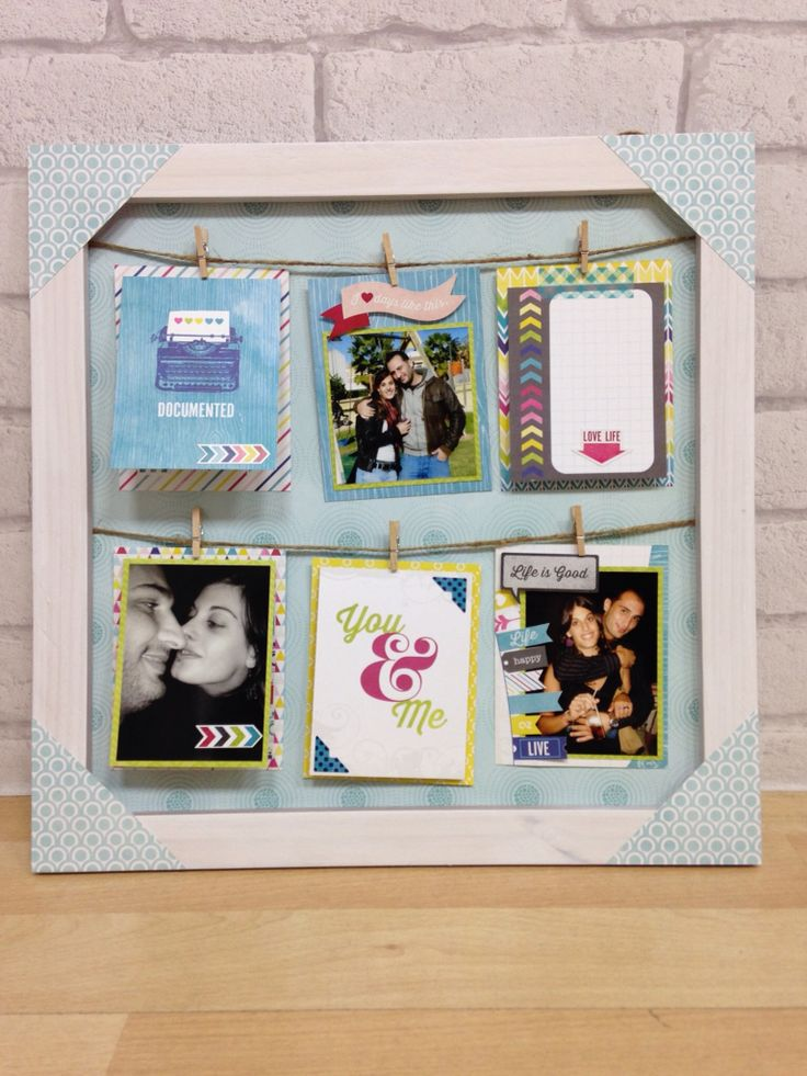 I love so much this kind of photo frame - home decor project. Learn the idea from Lory Bucaria.
