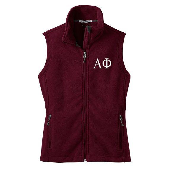 Alpha Phi Fleece Vest
