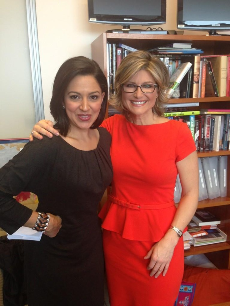 Ashleigh Banfield and Carmen Wong Ulrich wrapping on set.     Thanks for being such a great guest Ashleigh.