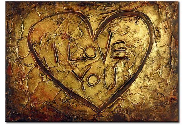 Cuadros amor - Cuadro I love you #cuadros #abstractos #home #decor #pintura #abstracción #love