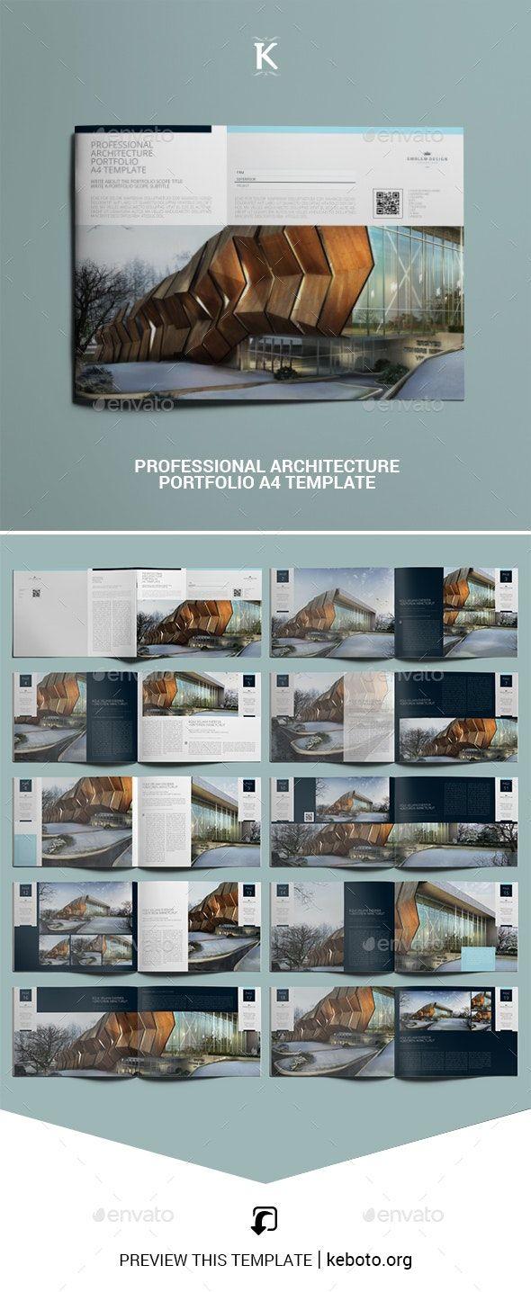 Professional Architecture Portfolio A20 Template   Portfolio ...