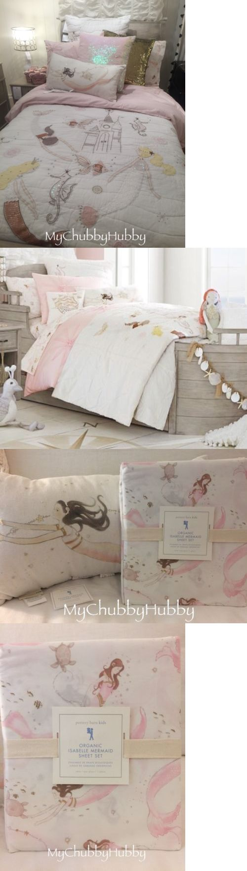Kids Bedding: Nwt Pottery Barn Kids ~Isabelle Castle~ Twin Quilt Sham Sheets And Mermaid Pillow -> BUY IT NOW ONLY: $482.78 on eBay!