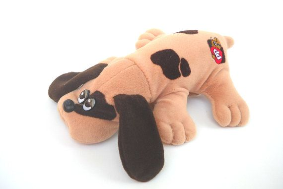 1980s Toy Pound Puppy Tan with Brown Spots by by ManateesToyBox, $4.85