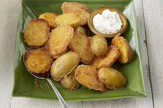 Crispy Parmesan Baked Potatoes Recipe