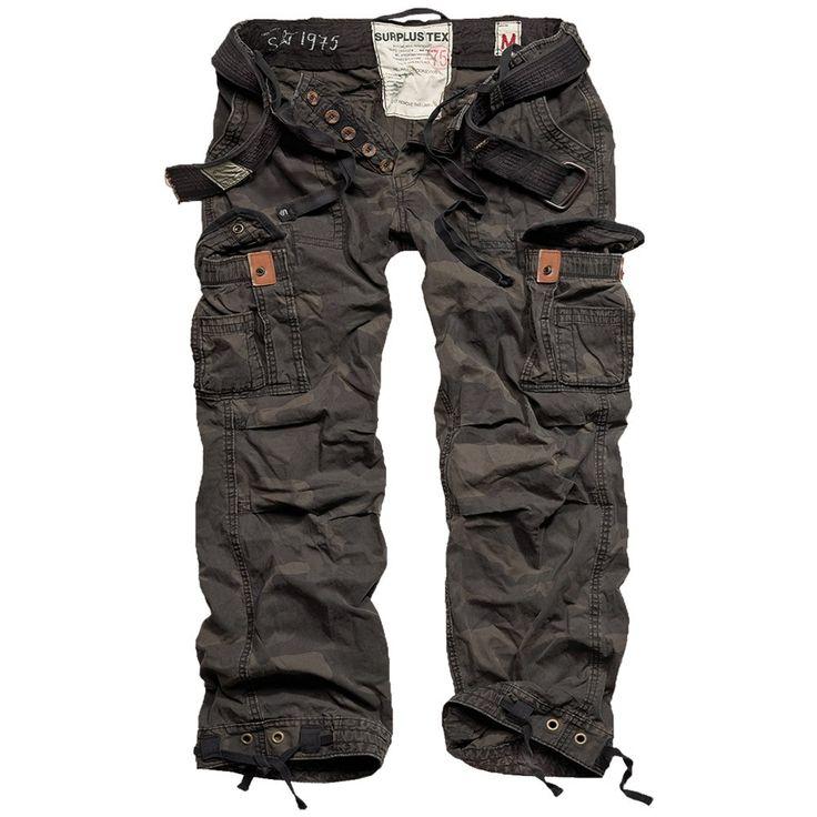 Pantaloni militari Premium Vintage - black camo