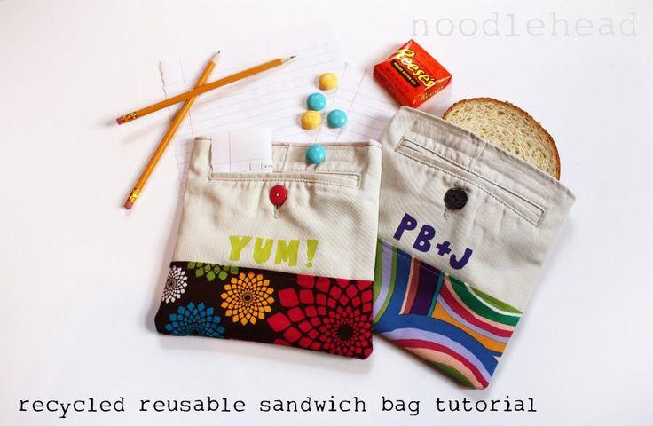 tutorial: recycled reusable sandwich bag - Noodlehead