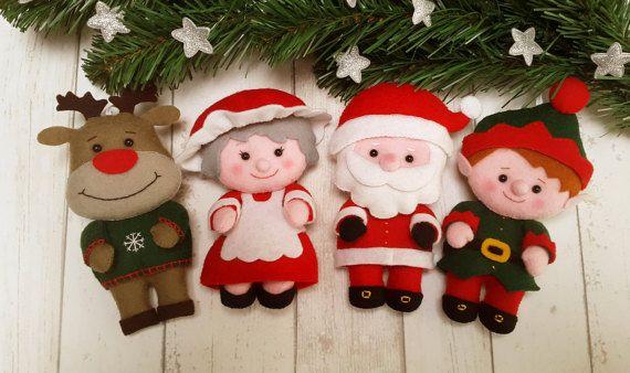 PDF pattern Santa & Family felt pattern Christmas por SuperSkattig