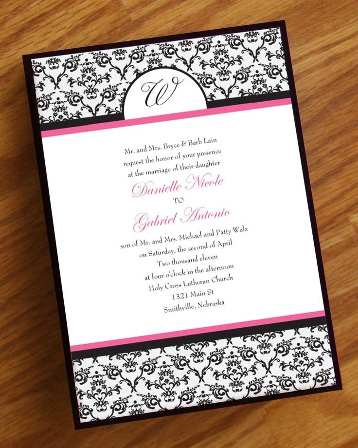 Elegant Damask Wedding Invitation. $2.25, via Etsy.