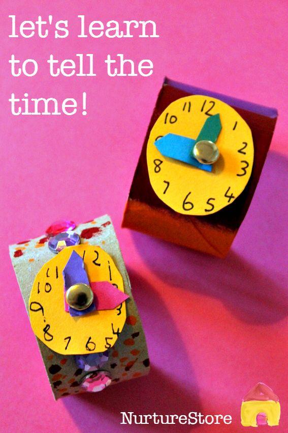 leren om de tijd activiteiten vertellen :: klok ambacht :: kijken ambachtelijke
