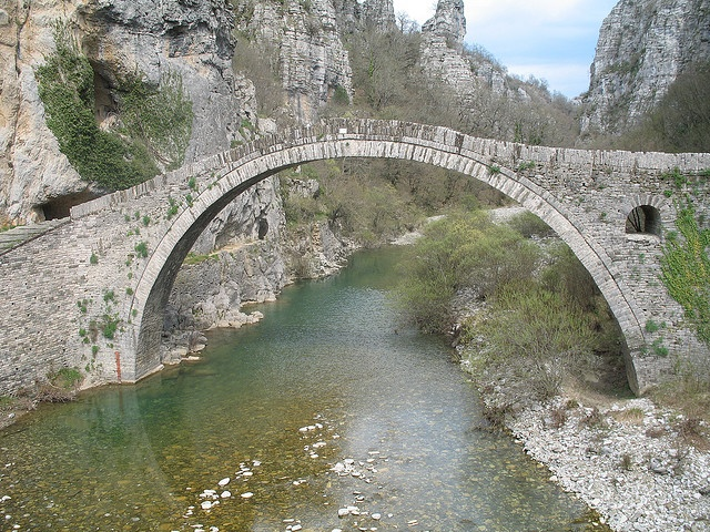Zagorohoria stone bridge in Greece