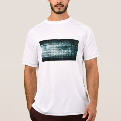 Technology Abstract with Internet Data Moving T-Shirt - mens sportswear fitness apparel sports men healthy life