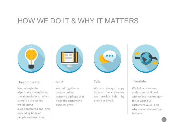 HOW WE DO IT & WHY IT MATTERS