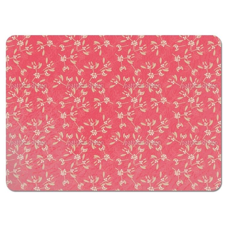 Uneekee Mistletoe Pink Placemats (Set of 4) (Mistletoe Pink Placemat) (Polyester, Floral)