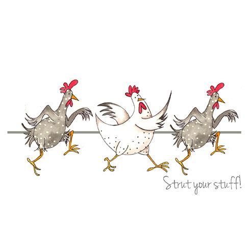 """Strut your Stuff!"" by Sarah Boddy (DoodleDoo Personalised Charity Cards)"