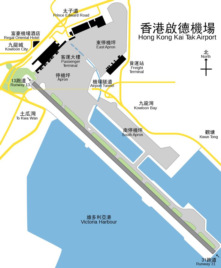 plan view of hong kong kai tak airport with traditional chinese text