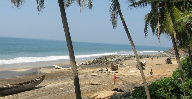 Varkala Beach in Varkala, Kerala