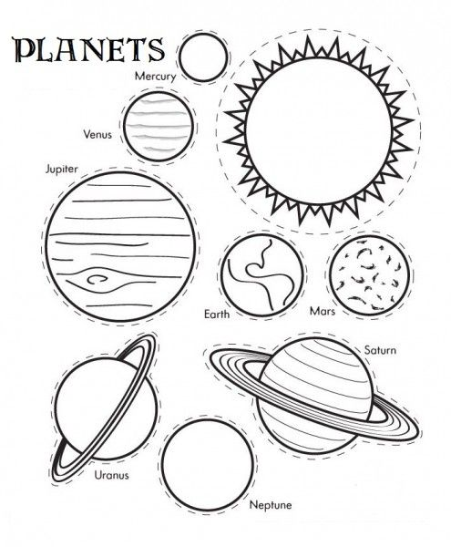 cut-out planets
