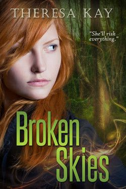 http://bit.ly/2fXxBv8 -        Broken Skies by Theresa Kay   In seventeen-year-old Jax Mitchell's world, humans are nearly extinct and alien settlers have arrived. Until recently, the E'rikon have remained segregated in their city and ignored the humans, but now they have taken Jax's brother. To rescue him, she forms an uneasy alliance with a teenage E'rikon left stranded in the woods. She agrees to guide him to the city if he sneaks her past the human-proof barri