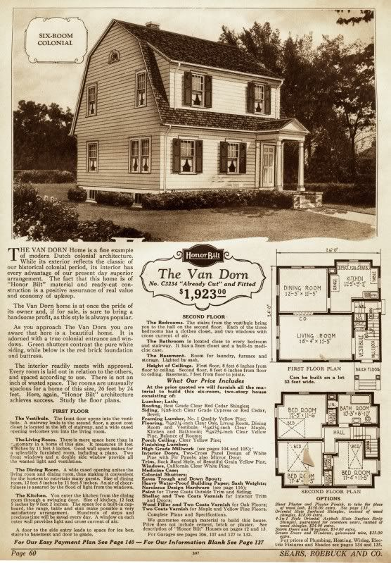 Mine is a lot like this sears kit home van dorn which for Dutch colonial house plans with photos