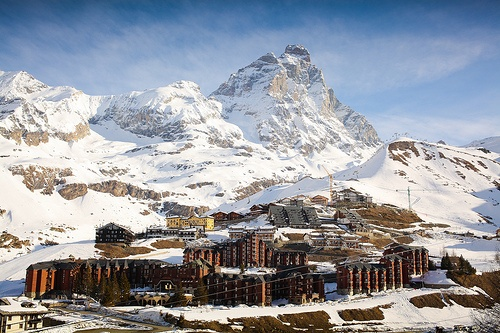 Cervinia, Italy. Ski the other side of the Matterhorn.