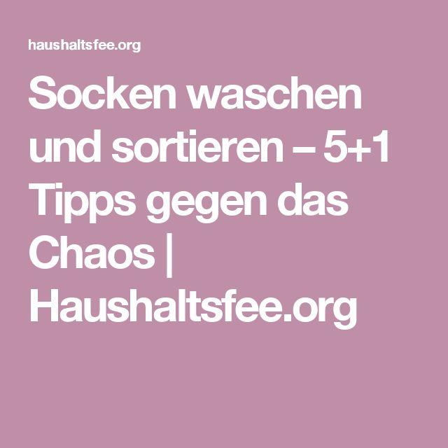 Socken waschen und sortieren – 5+1 Tipps gegen das Chaos | Haushaltsfee.org