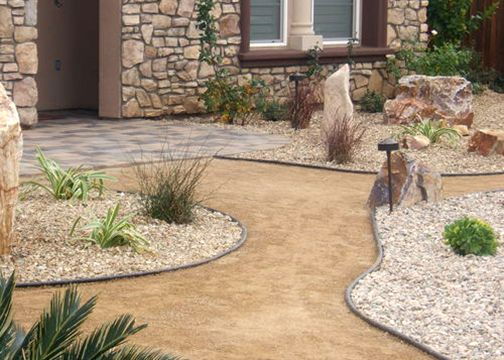 Decomposed Granite Pathway. Desert BackyardBackyard BarBackyard  LandscapingBackyard IdeasLandscaping ...