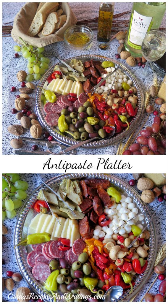 Enjoy an Antipasto Platter with us! #SundaySupper and #GalloFamily Give Thanks event!