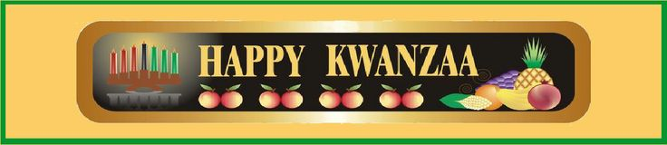 Traditional water bottle label for Kwanzaa