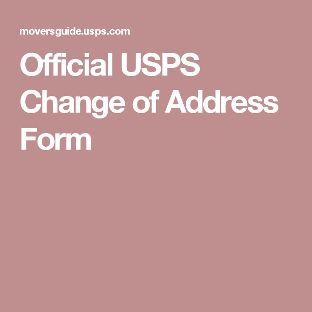 Official USPS Change of Address Form Moving Pinterest United - official change of address form