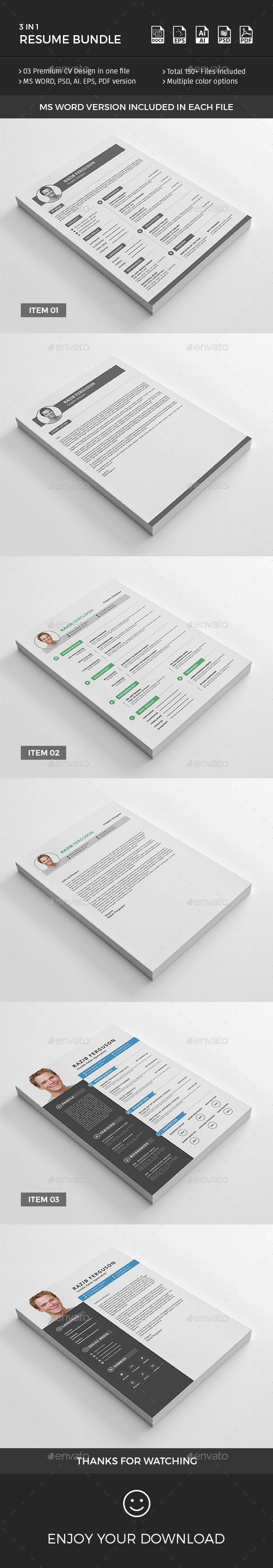 Resume Bundle Resumes Stationery 345 best