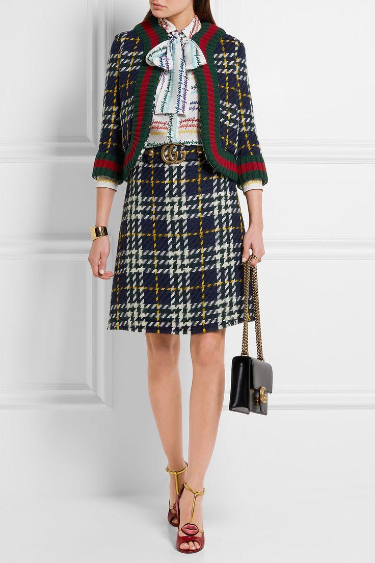 Gucci | Cropped plaid wool jacket | NET-A-PORTER.COM