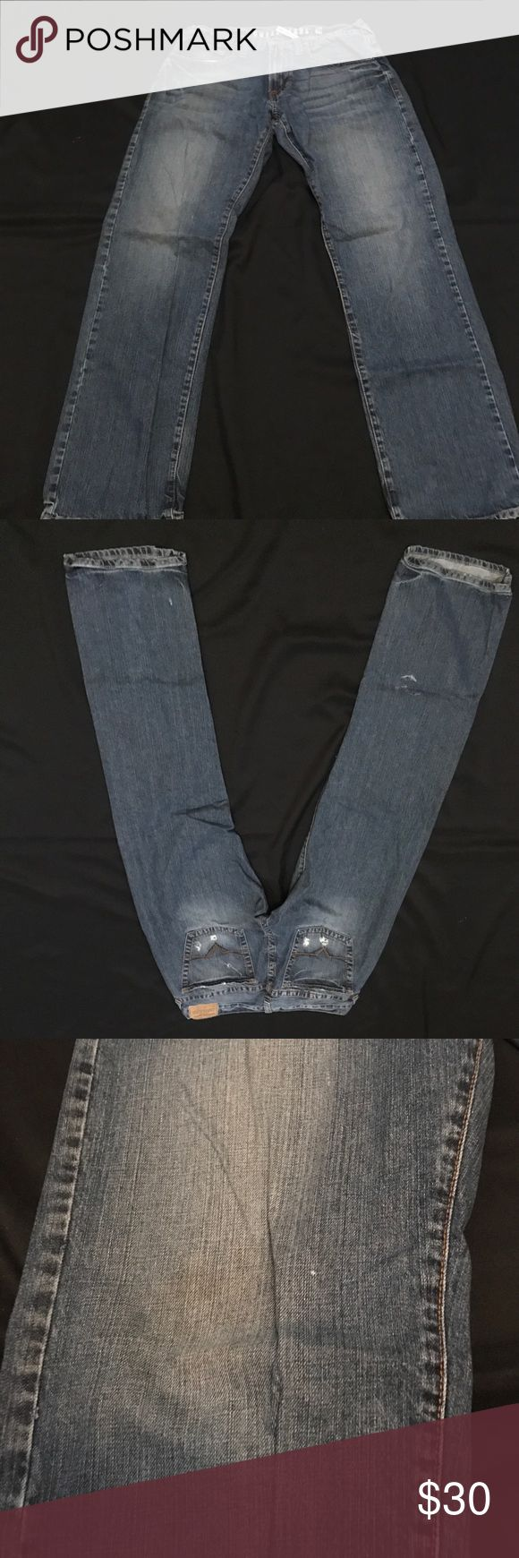GUESS JEANS REBEL STRAIGHT LEG 36 GUESS JEANS --  Used --- Good condition few stains,  look at the pictures before purchase, SIZE 36 MENS GUESS JEANS REBEL STRAIGHT LEG Guess Jeans Straight