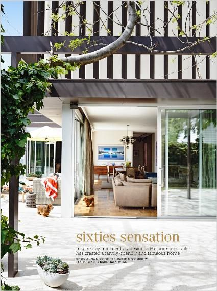 Homes: Sixties sensation.. Clipped from Home Beautiful using Netpage.