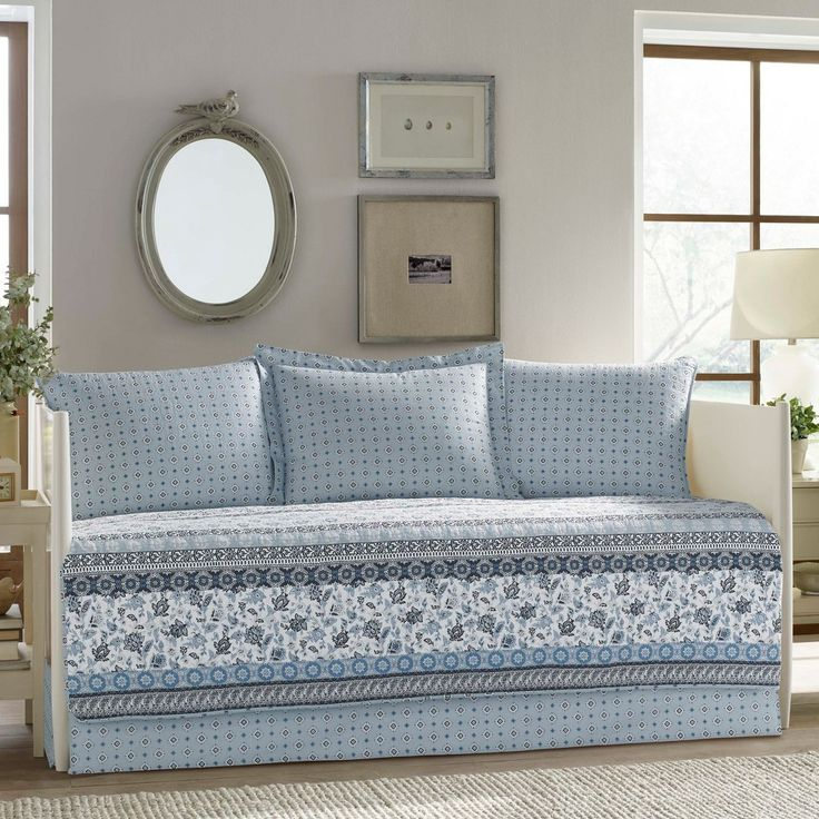 Blue Bexley Daybed Set (Twin) - Stone Cottage
