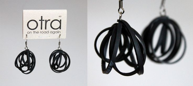 Otra - recycled bicycle inner tubes fabulous!