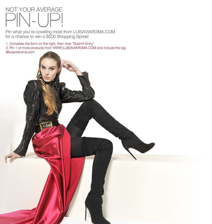 "Enter our ""Not Your Average Pin-Up"" Contest on Pinterest for a chance to win a a $500 gift card to Luisaviaroma.com!"
