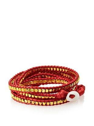 OK 1984 Red Five-Layer Cord Wrap Bracelet