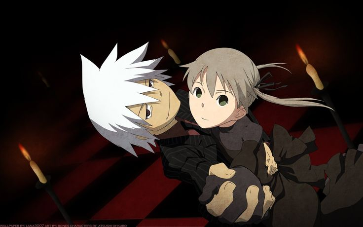 Stein might not understand why they are able to Soul Link but I do! Soul Eater and Maka <3