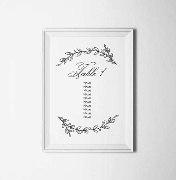Best Wedding Seating Chart Images On   Table Numbers