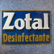 chapa ZOTAL desinfectante publicidad anuncio antigua vintage metal