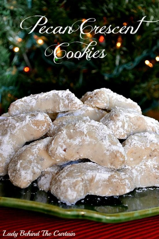 One of my families favorite holiday cookies.  Nothing fancy just buttery goodness. Pecan Crescent Cookie Recipe (makes 3-1/3 doz) Ingredients 2 cups all-pu