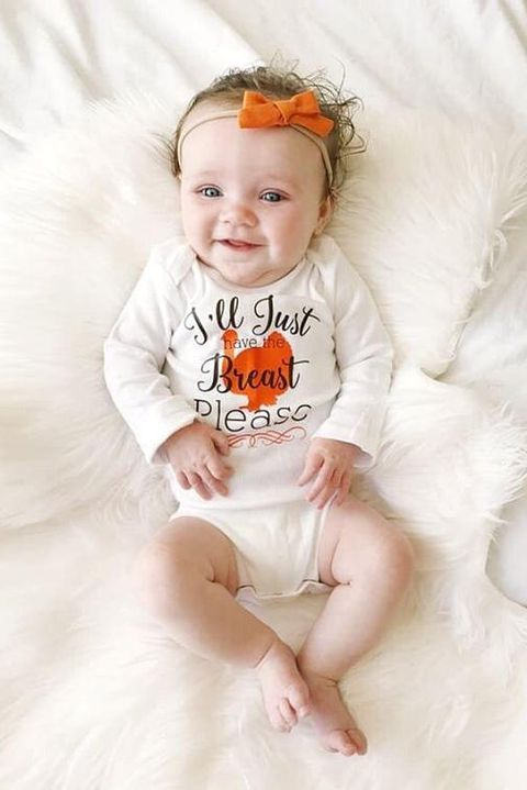 16fc2f234 Sorry, no turkey for your little one! (But they can still wear this bird  decorated outfit.) #holiday #thanksgiving #party #shopping #inspiration  #love