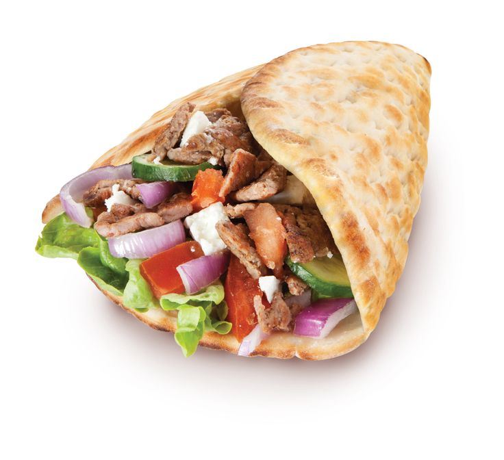 Piadina Gyros:  Kebab Gyros il Sole: insalatina, pomodoro, cetriolo, cipolla rossa e dadini di feta