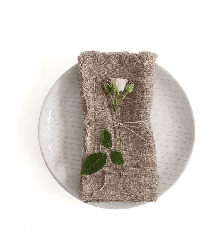 Set di 2 Natural Stone Washed lino tovaglioli con frange di LinenTales su Etsy https://www.etsy.com/it/listing/451186020/set-di-2-natural-stone-washed-lino