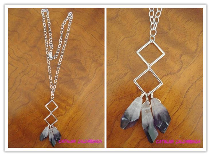 Sterling Silver Amethyst Necklace by Cata Saldarriaga Jewelry.