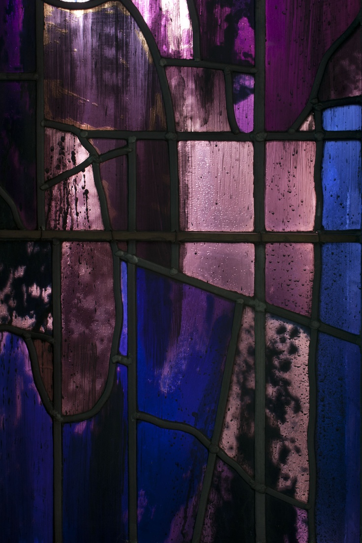John Piper - Stained Glass Window- In the Chapel at Churchill College- Exhibition from June 14th - 18th. Prints for sale.