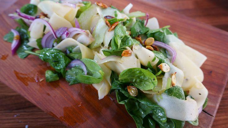 Salade de courge poivrée